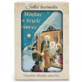 Nekupto Svietiace lucernička Josef Lada Šťastné a veselé Vianoce 13,7 x 20 x 5 cm