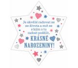 Albi Závesná plaketka hviezda Narodeniny 9 x 10 cm