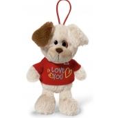 Nici Love You Pes v tričku so závesom 15 cm