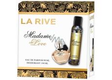 La Rive Madame in Love toaletná voda pre ženy 90 ml + dezodorant sprej 150 ml, darčeková sada