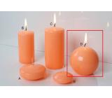 Lima Reflex fosforové oranžová sviečka guľa 80 mm 1 kus