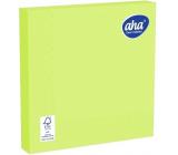Aha Papierové obrúsky 3 vrstvové 33 x 33 cm 20 kusov jednofarebné limetkovo zelená