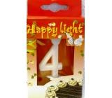 Happy light Dortová svíčka číslice 4 v krabičce