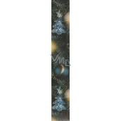 Nekupto Vánoční balící papír tmavě modrý Zlatá hvězda 2 x 0,7 m