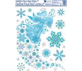Okenní fólie bez lepidla jemná ledová anděl 42 x 30 cm