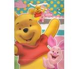 Ditipo Disney Dárková papírová taška pro děti L Medvíde Pú, What a Fun Day! 26,4 x 12 x 32,4 cm