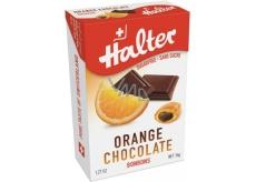 Halter Orange Chocolate - Pomaranč s čokoládou cukríky bez cukru, s prírodným sladidlom Izomalt, vhodné aj pre diabetikov 36 g