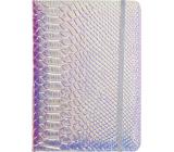 Albi Blok holografický linajkový na gumičku Modro-strieborný 19,5 x 14,2 x 1,5 cm