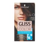 Schwarzkopf Gliss Color farba na vlasy 4-0 Prirodzene tmavohnedý 2 x 60 ml