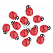 Lienky samolepiace červené 2 cm 12 kusov