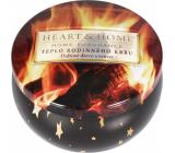Heart & Home Teplo rodinného krbu Sójová vonná sviečka v plechovke horí až 30 hodín 125 g