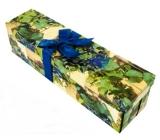 Dárková krabička skládací s mašlí na láhev hrozny 34 x 9,5 x 9,5 cm 1 kus