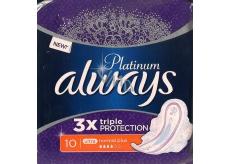 Always Platinum 3 x Triple Protection Ultra Normal Plus hygienické vložky s křidélky 10 kusů