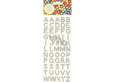 Albi Samolepící krystaly abeceda stříbrné 15 mm 55 kusů