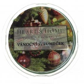 Heart & Home Vôňa vianočného stromčeka Sójový prírodný voňavý vosk 27 g