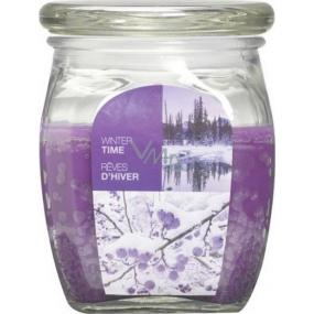 Bolsius Aromatic Winter Time - Zimný čas vonná sviečka v skle 92 x 120 mm 830 g, doba horenia 100 hodín
