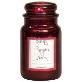 Village Candle Ruže a červené ovocie - Rosette Berry vonná sviečka v skle 2 knôty 602 g
