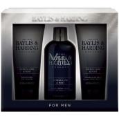 Baylis & Harding Limetka a Máta 2v1 šampon a sprchový gel 300 ml + sprchový gel 200 ml + balzám po holení 200 ml, kosmetická sada pro muže