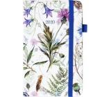 Albi Diár 2020 vreckový s gumičkou Lúčne kvety 15 x 9,5 x 1,3 cm