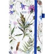 Albi Diář 2020 kapesní s gumičkou Luční květy 15 x 9,5 x 1,3 cm