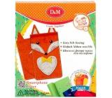 Ditipo Fox Kreatívny set šitie obal na mobil pre deti 5+