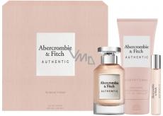 Abercrombie & Fitch Authentic Woman toaletná voda 100 ml + telové mlieko 200 ml + toaletná voda 15 ml, darčeková sada