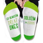 Nekupto Rodinné darčeky s humorom Ponožky Čo nemusím robiť dnes, veľkosť 43-46