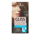 Schwarzkopf Gliss Color farba na vlasy 6-0 Prirodzene svetlo hnedý 2 x 60 ml