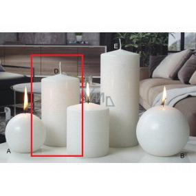 Lima Ice pastel sviečka biela valec 80 x 150 mm 1 kus