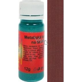 Art e Miss Barva na světlý i tmavý textil 24 metalická hnědá 12 g
