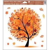 Room Decor Okenní fólie bez lepidla 4 roční období Podzim 33,5 x 30 cm