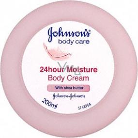 Johnsons Care 24HOUR Moisture telový krém s bambuckým maslom 200 ml
