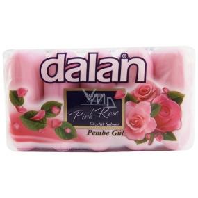 Dalan Pink Rose ruže tuhé toaletné mydlo 5 x 70 g