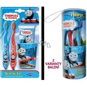 Thomas & Friends - Lokomotiva Tomáš zubní pasta pro děti 75 ml + 2 x zubní kartáček + kelímek na vodu, dárková sada expirace 6/2018