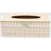 Nekupto Home Decor Drevený box na papierové vreckovky 24 x 12 x 9 cm