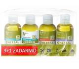 O Herbal Len šampon pro suché a poškozené vlasy 75 ml + kondicionér na vlasy 75 ml + Levandule sprchový gel 75 ml + Goji tělové mléko 75 ml, kosmetická sada