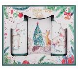 Bohemia Gifts & Cosmetics Vianoce Šťastné a Veselé sprchový gél 100 ml + šampón 100 ml + mydlo 110 g, kozmetická sada