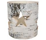 Svietnik z brezovej kôry 11 cm