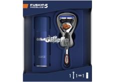Gilette Fusion5 ProGlide holiaci strojček pre mužov + Fusion5 Ultra Sensitive gél na holenie pre citlivú pleť 75 ml, kozmetická sada