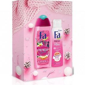 Fa Polynesia Umuhei sprchový gél 250 ml + Fresh & Free dezodorant sprej 150 ml, kozmetická sada