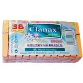 Clanax dřevěné kolíčky na prádlo 36 ks