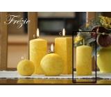 Lima Mramor Frézie vonná sviečka žltá valec 50 x 100 mm 1 kus