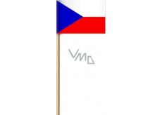 Arch Papierová vlajka Českej republiky na drievku 42 cm 1 kus