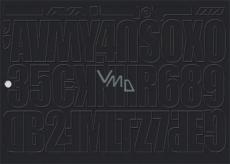 Arch Urobte si reklamu sami čierna samolepiace písmená a číslice 35 x 25 cm