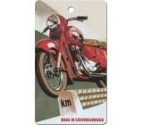 Bohemia Gifts & Cosmetics Aromatická vonná karta Motorka 11 x 6,3 cm