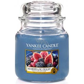 Yankee Candle Mulberry & Fig Delight - Lahodné moruše a figy vonná sviečka Classic strednej sklo 411 g