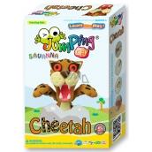 Jumping Clay Savana - Gepard samoschnoucí modelovací hmota + papírová maketa + tvořítko 5+