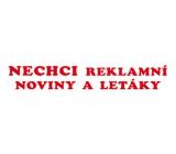 Arch Samolepka na schránku Nechci reklamní noviny a letáky 390 15 x 3 cm