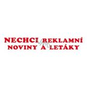 Arch Samolepka na schránku Nechcem reklamné noviny a letáky 15 x 3 cm