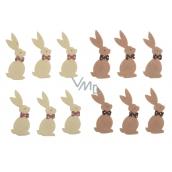 Zajac s Lepik 7 cm, 6 kusov v sáčku svetlá alebo hnedá